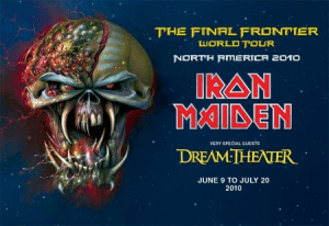 Cartel del tour de Iron Maiden con Dream Theater
