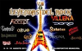 Leyendas Del Rock 2013 Cartel