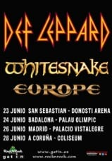 Def Leppard Whitesnake Europe Tour 2013