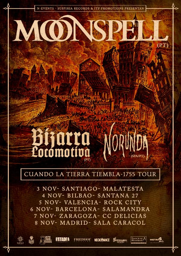 Moonspell, teloneros para su gira española