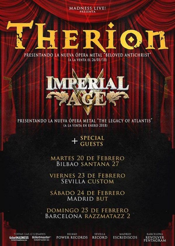 Therion, cambio de sala para su concierto en Madrid