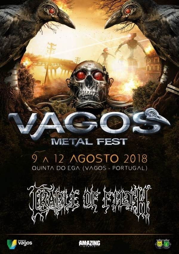Vagos Metal Fest 2018, Cradle Of Filth es la primera confirmación del festival portugués